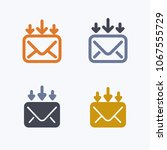 mail   down arrows   outline  ... | Shutterstock .eps vector #1067555729