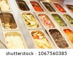cooking condiments with... | Shutterstock . vector #1067560385