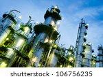 column tower in petrochemical... | Shutterstock . vector #106756235