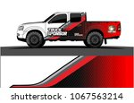 truck graphics. abstract curved ...   Shutterstock .eps vector #1067563214