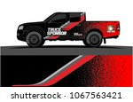 truck graphics. abstract curved ...   Shutterstock .eps vector #1067563421