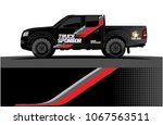 truck graphics. abstract curved ... | Shutterstock .eps vector #1067563511