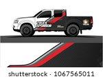 truck graphics vector. simple... | Shutterstock .eps vector #1067565011