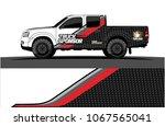 truck graphics vector. simple... | Shutterstock .eps vector #1067565041