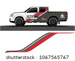 truck graphics. simple bold... | Shutterstock .eps vector #1067565767