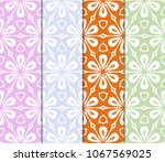 set of art deco pattern of... | Shutterstock .eps vector #1067569025