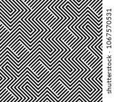 abstract op art stripe line... | Shutterstock .eps vector #1067570531
