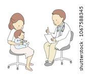 vector illustration of doctor... | Shutterstock .eps vector #1067588345