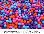 colorful child balls. multi... | Shutterstock . vector #1067594447