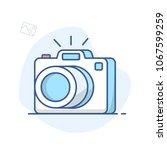 photo camera line icon.... | Shutterstock .eps vector #1067599259