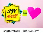 text sign showing legal advice. ...   Shutterstock . vector #1067600594