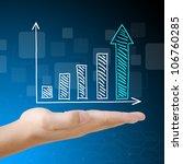 business graph on hand | Shutterstock . vector #106760285