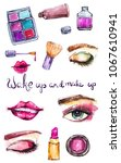 cosmetic watercolor collection  ... | Shutterstock . vector #1067610941