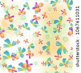 watercolor natural seamless... | Shutterstock . vector #1067611031