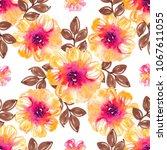 watercolor natural seamless... | Shutterstock . vector #1067611055