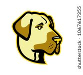 mascot icon illustration of... | Shutterstock .eps vector #1067617355