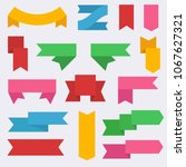 flat vector ribbons banners... | Shutterstock .eps vector #1067627321