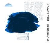blue brush stroke and texture.... | Shutterstock .eps vector #1067629934