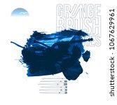 blue brush stroke and texture.... | Shutterstock .eps vector #1067629961