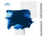 blue brush stroke and texture.... | Shutterstock .eps vector #1067629964