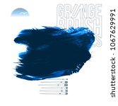 blue brush stroke and texture.... | Shutterstock .eps vector #1067629991