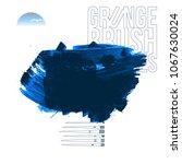 blue brush stroke and texture.... | Shutterstock .eps vector #1067630024