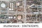aerial top view petrochemical... | Shutterstock . vector #1067632691