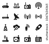 flat vector icon set   radio... | Shutterstock .eps vector #1067634365
