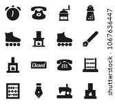 flat vector icon set   hand... | Shutterstock .eps vector #1067636447