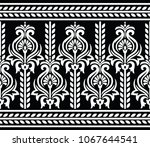 seamless black and white border