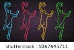 basketball player silhouette... | Shutterstock .eps vector #1067645711