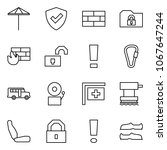 flat vector icon set   umbrella ... | Shutterstock .eps vector #1067647244