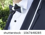 the suit jacket of the groom   Shutterstock . vector #1067648285