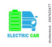 electro car icon. logo element... | Shutterstock .eps vector #1067652677