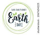 vector illustration of 'earth... | Shutterstock .eps vector #1067654225