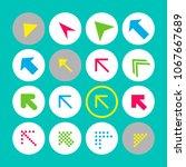 set of 16 arrow icons. arrow...   Shutterstock .eps vector #1067667689