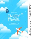 flat vector web banner on the... | Shutterstock .eps vector #1067671271
