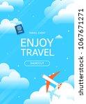 flat vector web banner on the... | Shutterstock .eps vector #1067671271