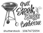 food meat  steak  roast grilled ... | Shutterstock .eps vector #1067672054