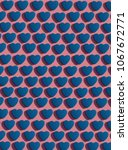 pattern of blue hearts on a...   Shutterstock . vector #1067672771