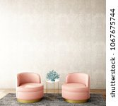 interior design for living area ... | Shutterstock . vector #1067675744