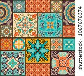 seamless colorful patchwork... | Shutterstock .eps vector #1067676374