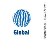 vector logo globe | Shutterstock .eps vector #1067679794