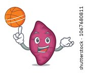 with basketball sweet potato... | Shutterstock .eps vector #1067680811