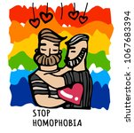 stop homophobia  a print with... | Shutterstock .eps vector #1067683394
