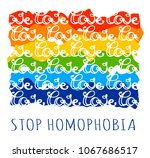 stop homophobia  a print with... | Shutterstock .eps vector #1067686517