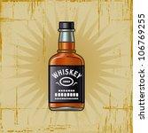 retro whiskey bottle. vector | Shutterstock .eps vector #106769255