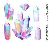 magic fairytale crystals...   Shutterstock . vector #1067696801