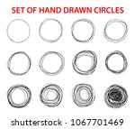 circle scribble line sketch set ... | Shutterstock .eps vector #1067701469