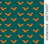 vector hand drawn pattern with... | Shutterstock .eps vector #1067713457
